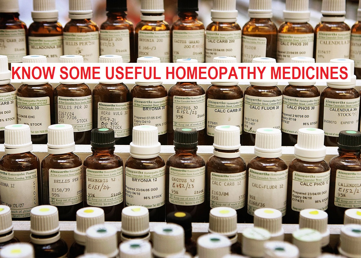 Useful Homeopathy Medicines
